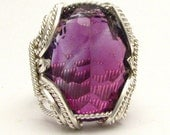 Handmade Sterling Silver Wire Wrap Amethyst Ring
