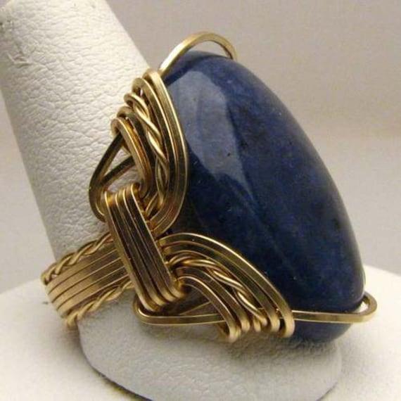 Handmade 14kt Gold Filled Blue Sodalite Ring