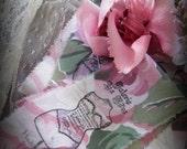 Haute Couture PARIS No.296 Mannequin   - Hand Stamped Vintage Ribbon