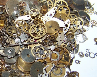 20g for 20 BUCKs Gears MIX Steampunk Watch Parts Pieces Vintage Antique Cogs Wheels