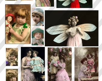 Digital Collage Sheet Vintage Images (Sheet no. O14) Instant Download