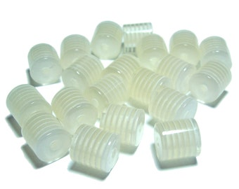 10x12mm Off White acrylic barrel beads