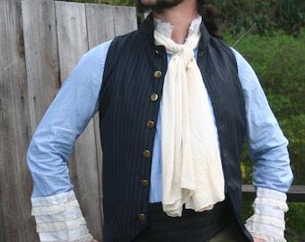 White Silk Charmeuse Scarf, Ascot , Cravat
