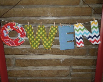 Quilted Appliqued Letters