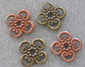 SALE Filigree Flower Pendant Mix Choose Your Finish 13mm Nickel Free 519