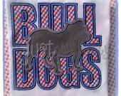 Bulldogs Dawgs Sillouette Embroidery Applique Design