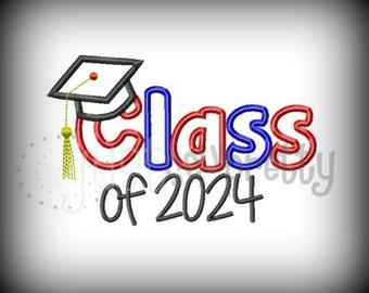 Class of 2024 Graduate Embroidery Applique Design