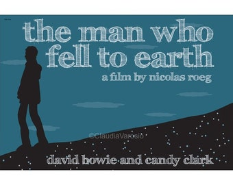 Movie poster The Man Who Fell to Earth retro print in various sizes