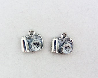 Pair of Pewter Digital Camera Charms
