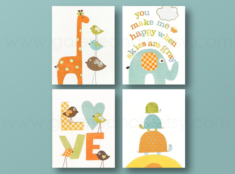 you make me happy orange green and yellow kids room decor. Black Bedroom Furniture Sets. Home Design Ideas