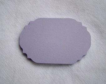Lavender die cut cardstock card label placard tag