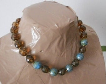 Lisette Czech glass necklace