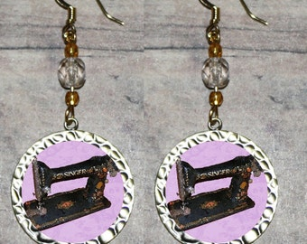 Antique SEWING MACHINE Earrings