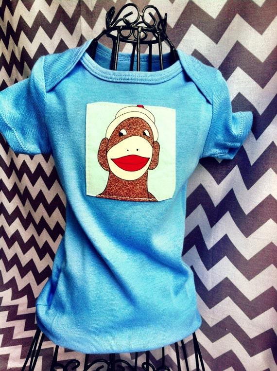 Cutie Sock Monkey Onsie Shirt