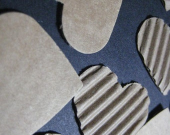 Corrugated Heart Die Cuts