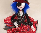 Captain Morgan's Daughter - Pirate Fantasy Art Doll
