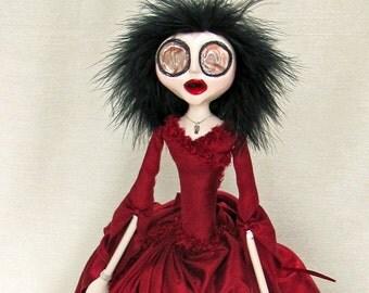 Mina - Horror Gothic Dracula Art Doll