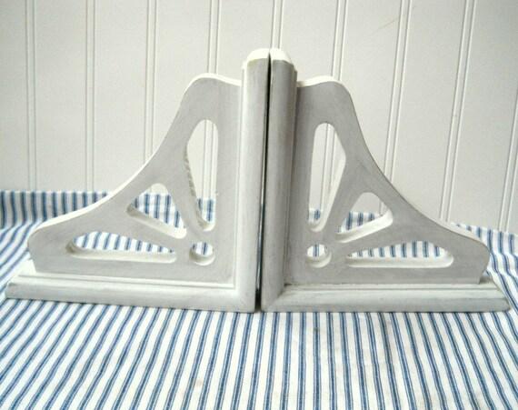 shabby white wood shelf brackets corbels by hopeandjoystudios. Black Bedroom Furniture Sets. Home Design Ideas