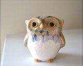 Camilla the Owl (Figurine) - Fired and Glazed Earthenware Clay