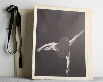 Vintage Ballerina Print - Book Plate - Tatiana Stepanova - Black Swan