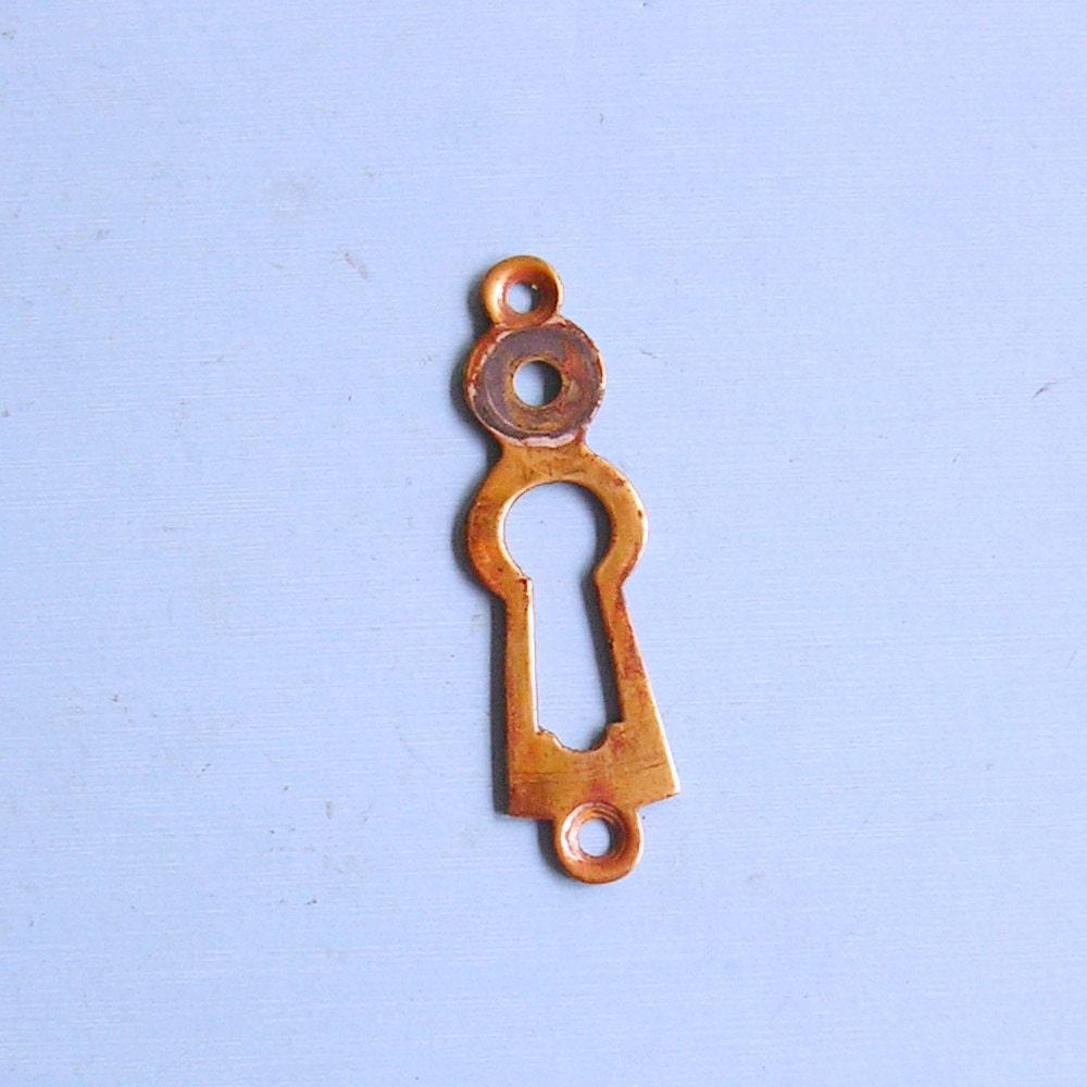 Vintage antique keyhole key hole cover covers escutcheon - Antique peephole ...