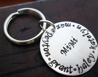 Personalized Keychain - Hand stamped key ring