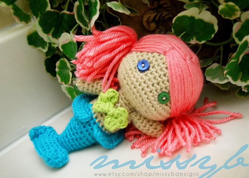 Crochet Pattern Mermaid Doll : Mermaid Crochet Pattern Mermaid Doll PDF Pattern by ...