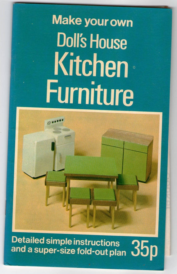 Make Your Own Doll 39 S House Kitchen Furniture Vintage