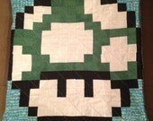 1 Up Mushroom Quilted Pillow Cover - free shipping