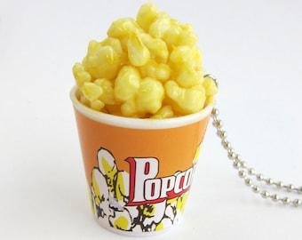 Popcorn Necklace -  Theater-style buttered popcorn, movie popcorn
