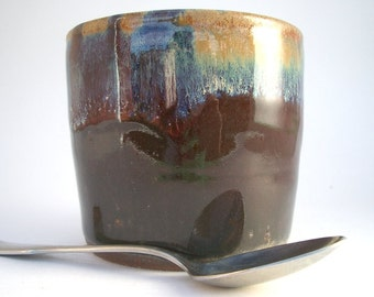 Deep Red Stoneware Cup