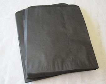 100 Black Paper Bags, Black Gift Bags, Favor Bags, Merchandise Bags, Paper Gift Bags, Kraft Bags, Candy Bags, Photo Bags 6x9
