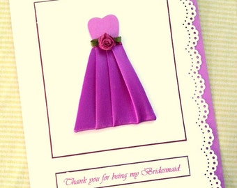 Thank you for being my Bridesmaid You be my Bridesmaid Will you be my Bridesmaid Ask Bridesmaid Wedding party Bridesmaid Invitation