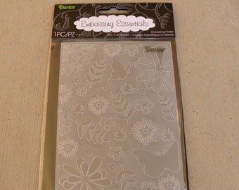 Darice Embossing Essentials, Embossing Folder, Floral