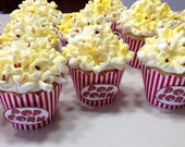Popcorn Themed Cupcake Wrappers set of 12