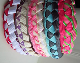 Woven headband, ribbon woven headbands, girls headbands