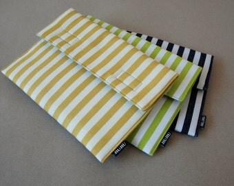 Laptop Case/Laptop Sleeve, for MacBook 11inch/13inch/15inch, made to order for other laptop modles.  Padded/Stripes.