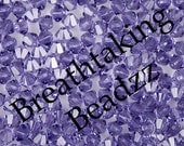 Swarovski Crystal Beads 24 Tanzanite 6mm Bicone 5328 Over 90 Colors In Stock ... last remaining packages