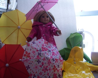 raincoat with umbrella to fit American girl dolls