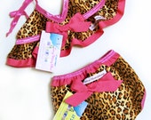 "Teeny Weeny ""Lily"" Bikini swim diaper set"