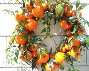 Orange Delight Wreath.......Door Wreath.....Citrus Wreath