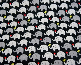 Tiny Elephant Print Japanese fabric Fat quarter  (n415)