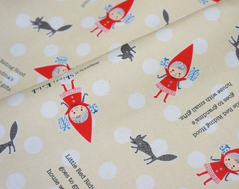 Shinzi Katoh Fabric  Little red riding hood half yard (lb1C)