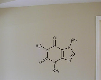 Caffiene Molecule Vinyl Wall Decal Graphic