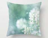 Home Decor Photograph Throw Pillow Cover, aqua, nature, floral, summer, Clean Water