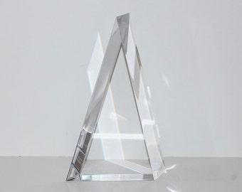 Vintage Large Lucite Trophy Pyramid