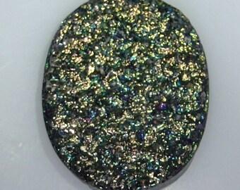 Large oval Titanium Drusy, 86.05 carats, 36.8x29.8mm                                             096-10-015
