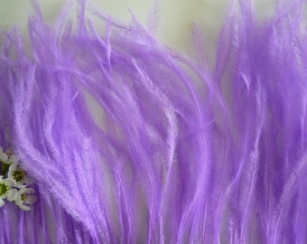 VOGUE OSTRICH Feather Fringe /  Purple with a shade of Magenta / 340