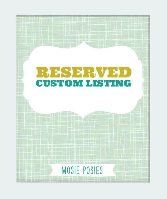 Custom Birth Announcement Print - RESERVED for Allison