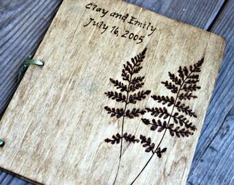 Custom Wedding Guest Book - Fern